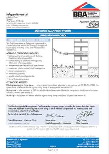 Certificato BBA